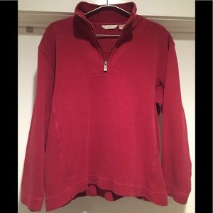 Tommy Bahama 1/4 Zip Red Pullover Sweater